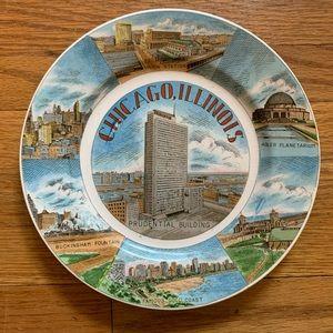Vintage Chicago, IL Souvenir Plate